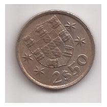 Portugal Moneda De 2 1/2 Escudos Año 1981 !!