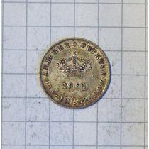 Portugal 50 Reis Plata 1861 Excelente