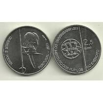 Moneda Portugal 2,5 Euro Año 2011 Colegio De Armas 100 Años