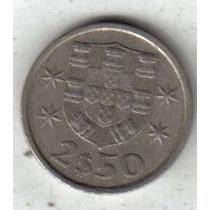 Portugal Moneda De 2 Y 1/2 Escudos Año 1980 !!!