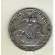 Portugal Escasa Moneda De 2 1/2 Escudos De Plata 1932 Km 580