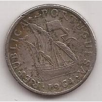 Portugal Moneda De 5 Escudos Año 1964 Escasa !!