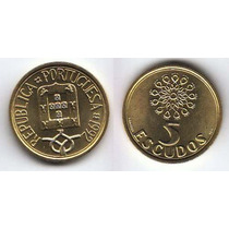 Portugal, Moneda De 5 Escudos De Bronce, 1992 Sin Circular