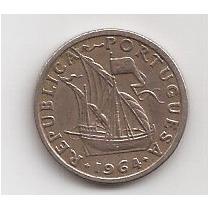 Portugal Moneda De 2 1/2 Escudos Año 1964 !!