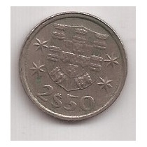 Portugal Moneda De 2 1/2 Escudos Año 1976 !!