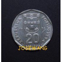 20 Escudos. Moneda De Portuguesa Del Año 1986