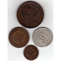 Antiguas Monedas De Rusia Y Austria - 1800/ 1802/ 1859/ 1899