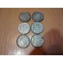 6 Monedas Coleccion De 5 Centavos Del 70 Al 72