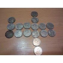 17 Monedas Coleccion De 5 Centavos De 1951 Al 56