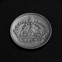 Moneda 10 Ore De Plata - Suecia - Año 1957 - Envío Gratis