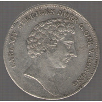 Suecia 1/4 Riksdaler 1834 Cb Exc
