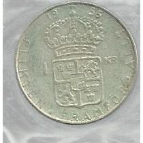 Suecia 1 Kroner 1956 Plata
