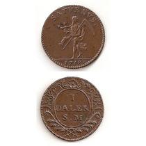 Moneda Suecia 1718 Talero De Goertz Rara Moneda Daler Sm