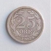 Suecia 25 Ore 1902 Plata - Muy Bueno Mk 775