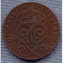 Suecia 1 Ore 1929 * Gustaf V *