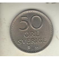 Suecia Moneda De 50 Ore Año 1962 Km 837 - Xf+