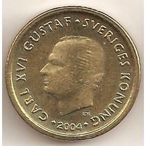 Suecia, 10 Kronor, 2004. Brillante Sin Circular