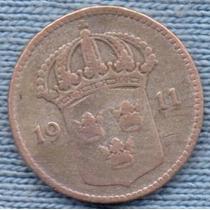 Suecia 10 Ore 1911 Plata * Gustaf V *