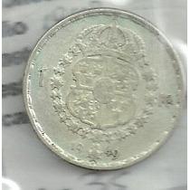 Suecia 1 Kroner 1949 Plata