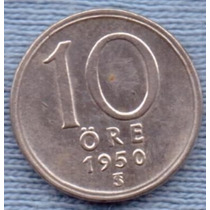 Suecia 10 Ore 1950 Plata * Gustaf V *