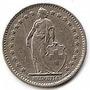 Suiza Moneda De Nickel De1 Fr Año 1977