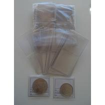 100 Sobres Plásticos Con Cartoncitos Para Monedas Marca Vk