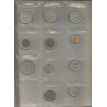 Coleccion 11 Monedas Diferentes En Hoja Plastica