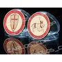 Moneda De Los Caballeros Templarios Bañada En Oro