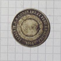 Brasil 500 Reis Plata 1864