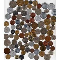 Interesante Lote De 100 Monedas Extranjeras Diferentes!!!!!