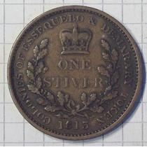 Guyana Britanica Essequebo Y Demerary 1 Stiver 1813