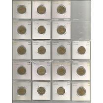 Coleccion 18 Monedas Diferentes En Hoja Plastica Ycartoncito