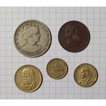 Colección 5 Monedas Del Mundo
