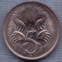 Australia 5 Cents 1983 * Oso Hormiguero * Echidna *