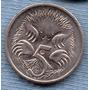 Australia 5 Cents 2001 * Oso Hormiguero * Echidna *