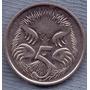 Australia 5 Cents 1995 * Oso Hormiguero * Echidna *
