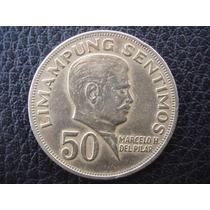 Filipinas - Moneda De 50 Céntimos, Año 1967 - Excelente