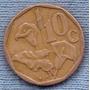 Sudafrica 10 Cent 1991 * Planta De Lirio *