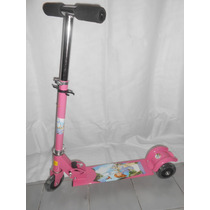 Monopatin Scooter 3 Ruedas, Plegable,monster High Frozen