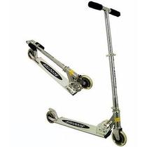 Monopatin De Aluminio Scooter Ruedas Siliconadas, Plegable.
