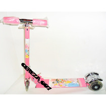 Monopatin Scooter De 3 Ruedas Luces Princesas