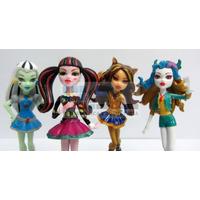 Monster High Blister X4 Muñecas Figuras Macizas Adorno Torta