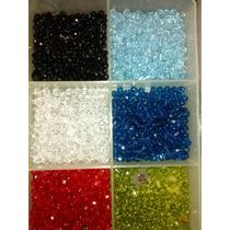 Cristal Checo Facetado Rosarios Variedad Colores X 100 Unid