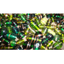 Mix Cuentas Vidrio Verde/bronce Accesorios Armar Bijou 250gr