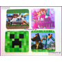 Minecraft Mousepads Full Color 21x19cm Exelente Calidad*