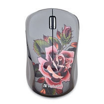 Mouse Inalambrico Verbatim Usb Multi Trac Blue Led Tattoo