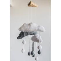 Movil Cuna - Nubes Y Gotas En Crochet