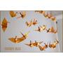 Colgante 10 Grullas- Fiestas Souvenir Vidrieras Origami Deco