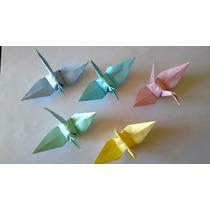 Grullas Tiritas Origami- Decoracion Fiestas,vidrieras-envios