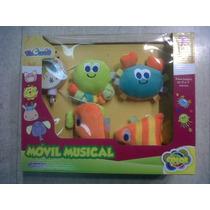 Movil Musical A Cuerda Bebe Coloria Mar Int B11111